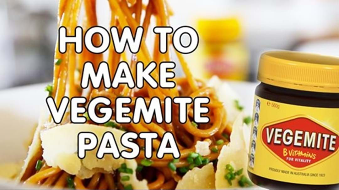 Article heading image for Here's How You Can Make Vegemite Pasta!