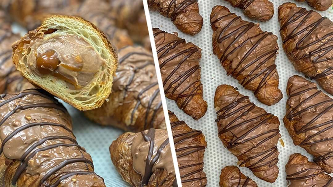 Article heading image for PSA: These Snickers Flavoured Stuffed Croissants Exist & Yes They Deliver