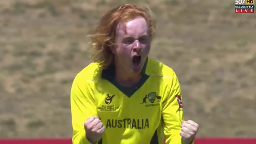 Article heading image for This Rude-Headed Ranga Just Absolutely Skittled England In The U19 World Cup