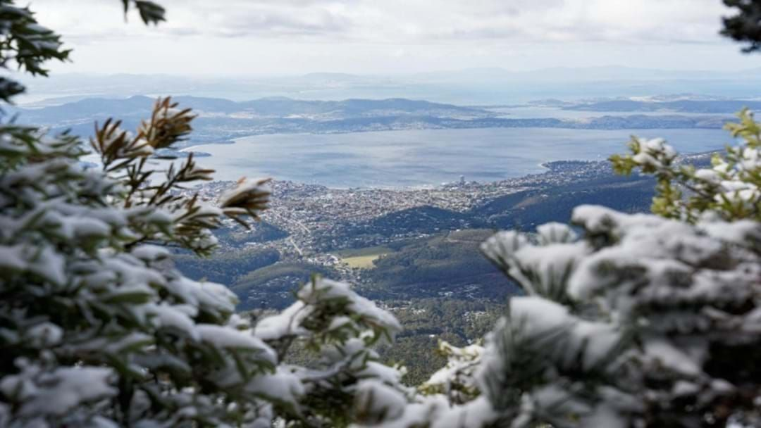 Article heading image for Spring In Tassie With All The Rare Trimmings: Snow, Hail And Gusty Winds