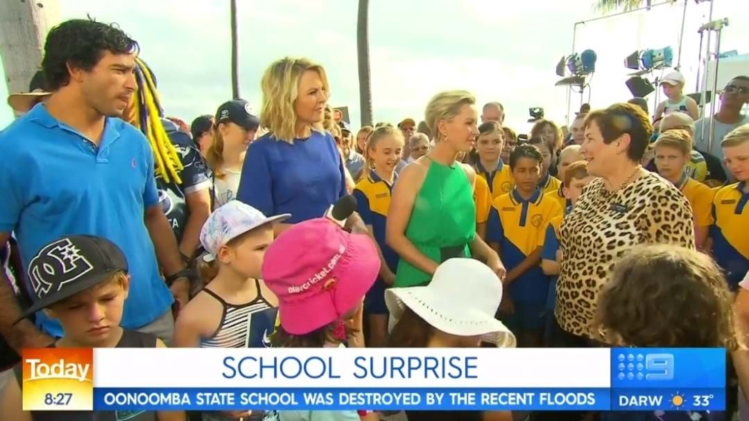 Article heading image for Oonoonba State School Given Donation LIVE on TODAY Show
