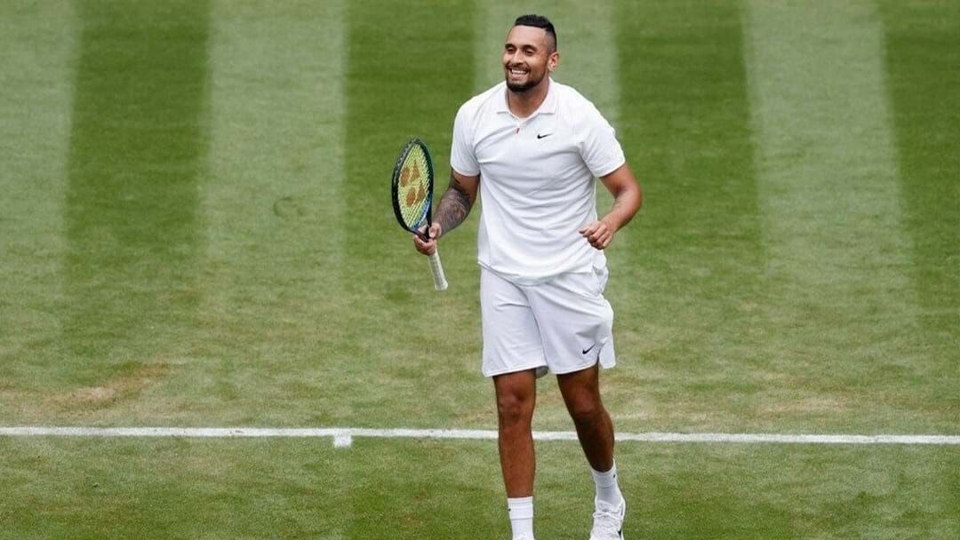 Article heading image for Nick Kyrgios Wins Clutch Wimbledon Match After Delay In Play