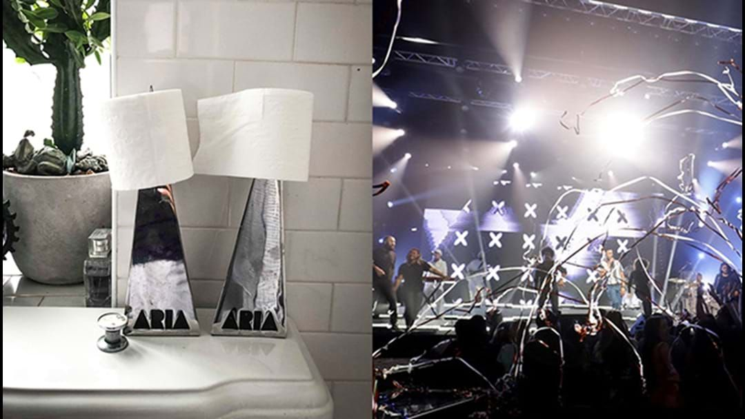Article heading image for This Artist Uses Their ARIA Awards As Toilet Paper Holders