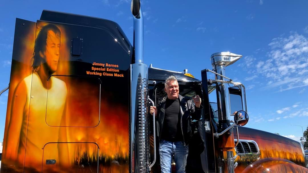 Article heading image for There's A Huge Truck Getting Around With Jimmy Barnes's Face On It