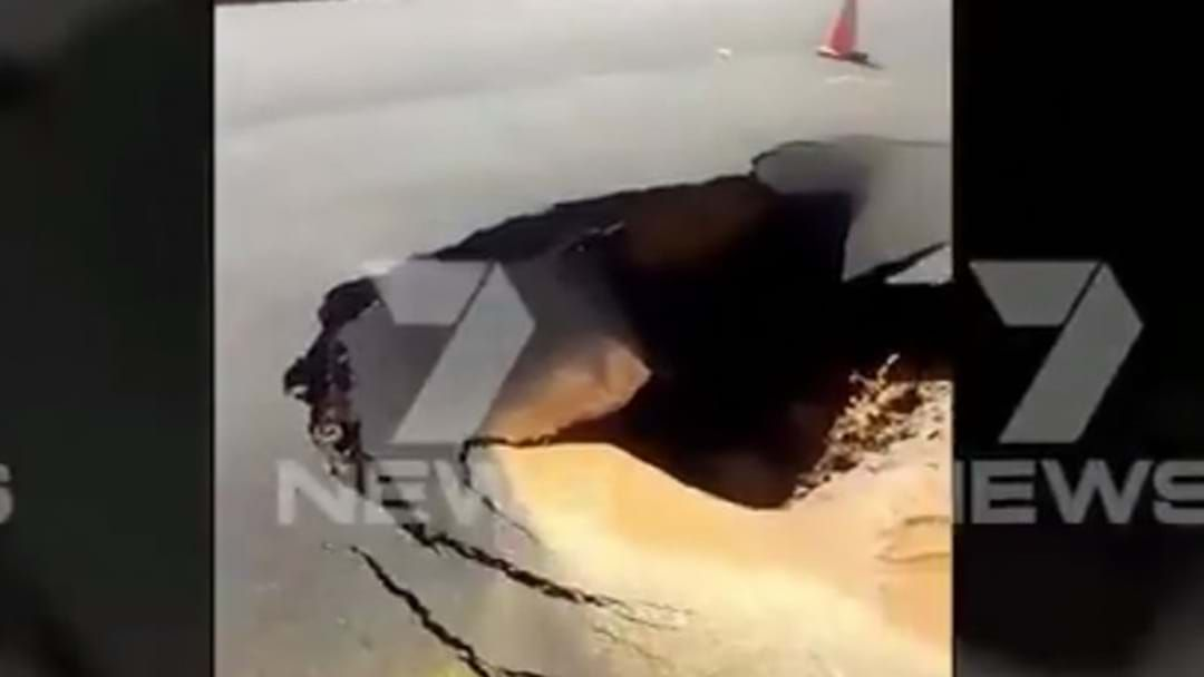 Article heading image for Sinkhole Opens Up On Adelaide Road
