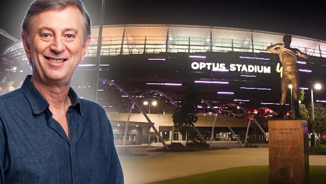 Article heading image for Dennis Cometti STARS In Stunning Perth Video Showing Off Our Optus Stadium