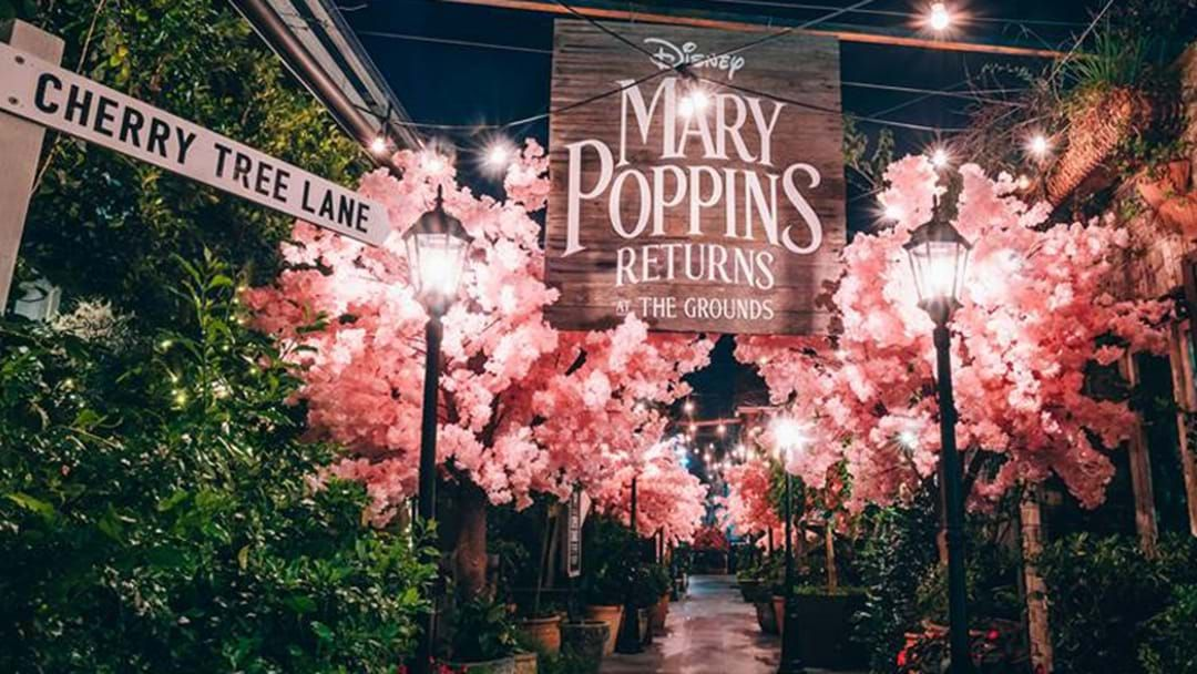 Article heading image for Cherry Tree Lane From Mary Poppins Returns Has Come To Life At The Grounds Of Alexandria
