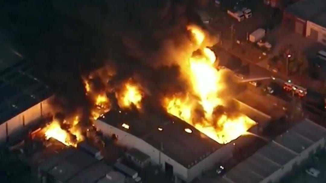 Article heading image for A Massive Factory Fire Is Burning Out Of Control In Campbellfield