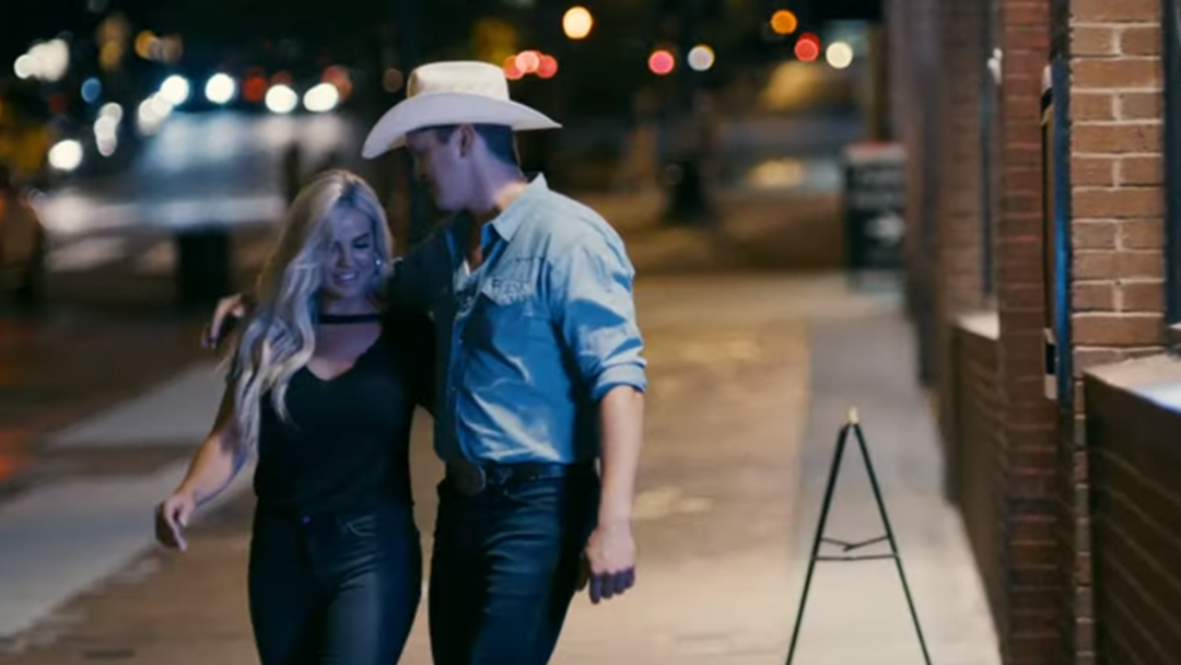 Article heading image for That's Jon Pardi's Girlfriend Two Stepping With Him in His Heartache Medication Video