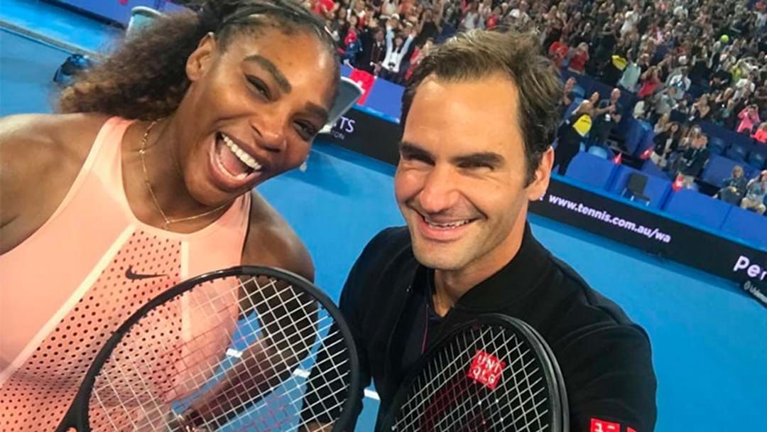 Article heading image for Roger Federer Wins Historic Doubles Match Against Serena Williams