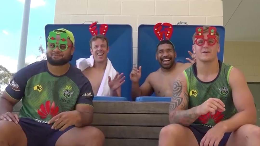 Article heading image for The Canberra Raiders Released A Christmas Music Video And It's Something Special