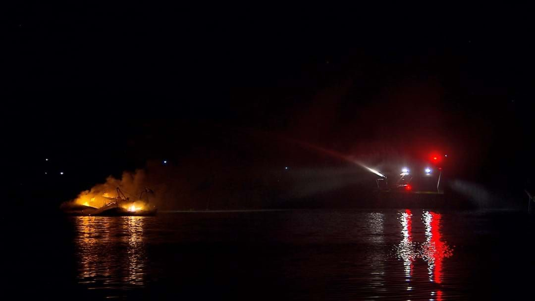 Article heading image for Boat Goes Up In Flames In Rathmines