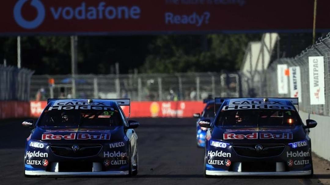 """Article heading image for Shane van Gisbergen Lights It Up While Scotty McLaughlin """"Sucked"""""""