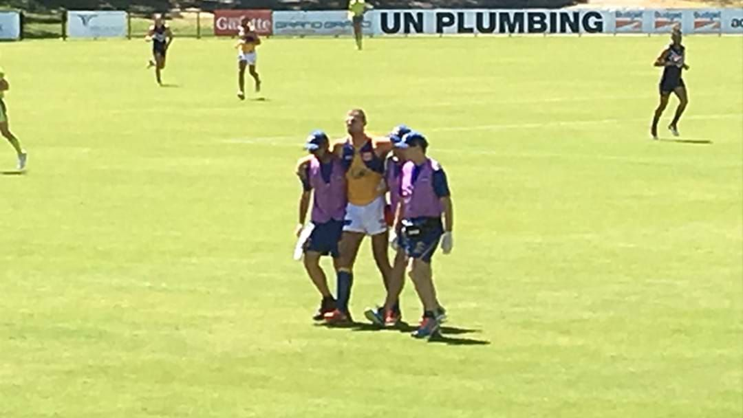 Article heading image for Nathan Vardy Carried Off In West Coast Practice Match