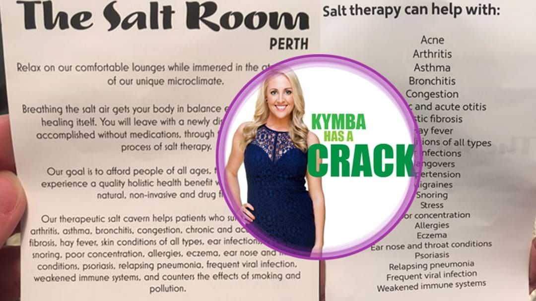 Article heading image for Kymba Has A Crack: Salt Treatment