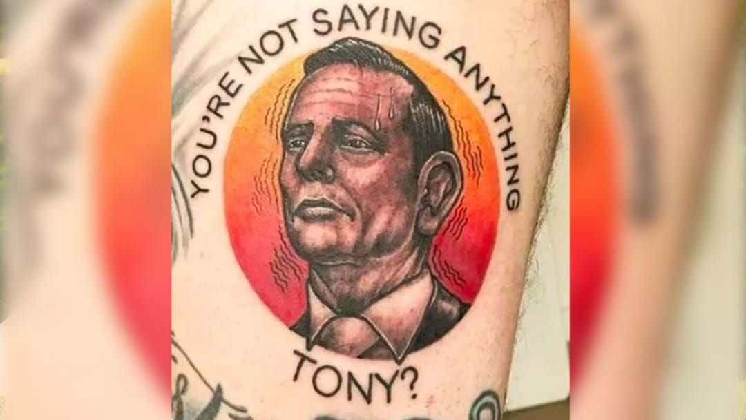 Article heading image for Reddit User Gets A Tattoo Of That Time Tony Abbott Completely Froze During An Interview