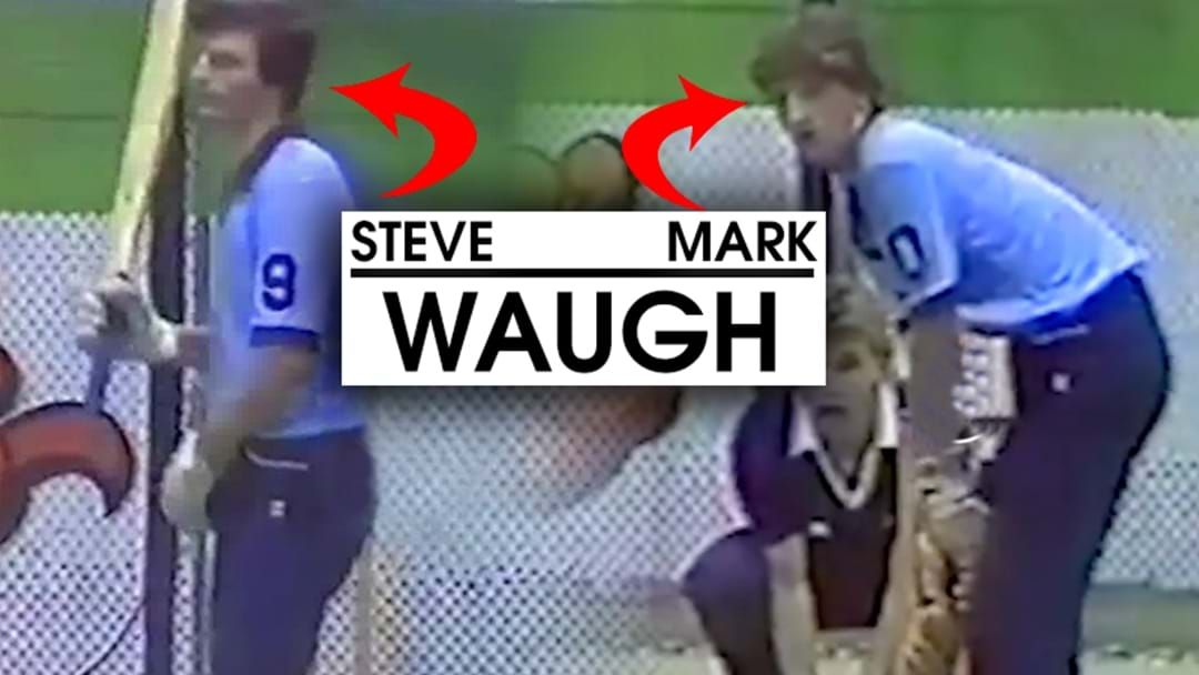 Article heading image for Rare Footage Of The Waugh Brothers Playing Indoor Cricket In 1983 Is As Glorious As You'd Expect