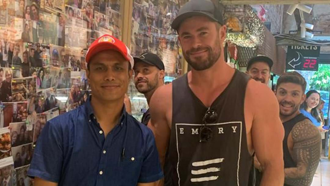 Article heading image for PSA: If You're Quick Enough You Might Still Be Able To Catch Chris Hemsworth At This Sydney Chicken Shop!