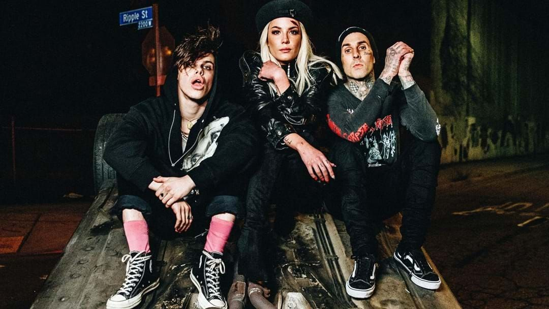 Article heading image for Lovebirds Halsey & Yungblud Just Dropped A Collab with Travis Barker!