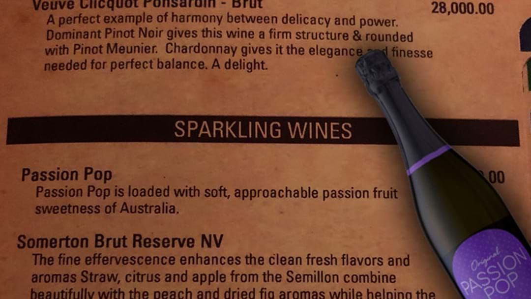 Article heading image for BEST OF 2018: When A Restaurant In Sri Lanka Was Selling Passion Pop For $60 A Bottle