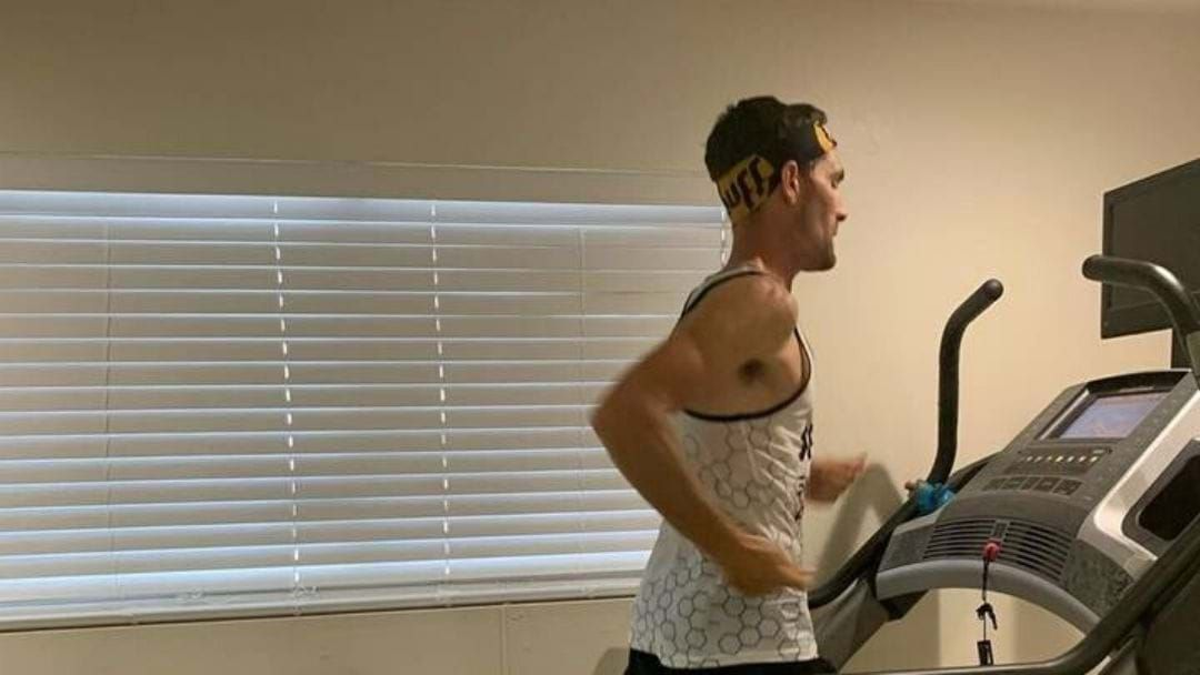 Article heading image for Long Distance Runner Beats 100 Mile Record On A Treadmill In Lockdown