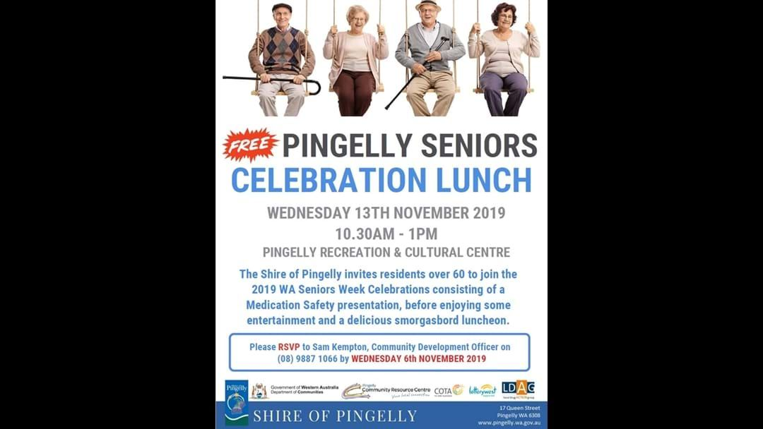 Article heading image for Pingelly Seniors Celebration Lunch