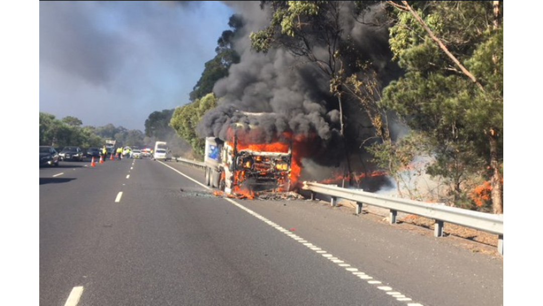 Article heading image for Truck Fire Closes M1