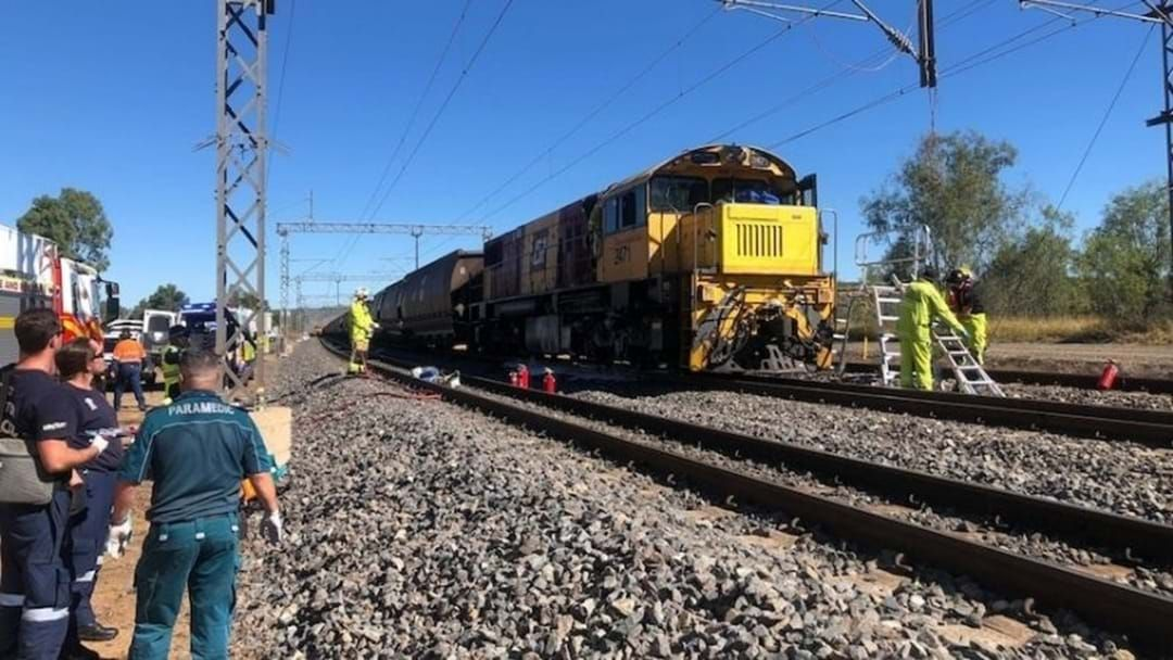 Article heading image for A Man Has Died After Two Trains Collided In Central Queensland