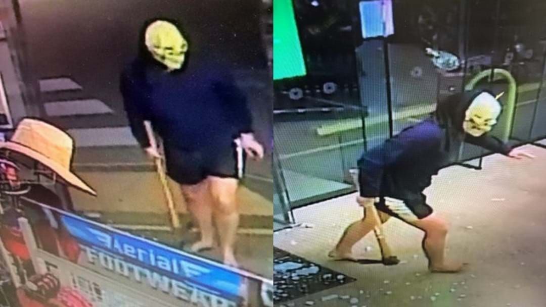 Article heading image for That Masked Man From The BP Break In Has Been Caught