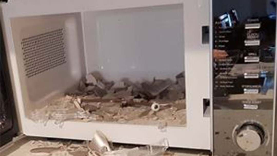 Microwave Explosion Narrowly Avoids Injuring Toddler
