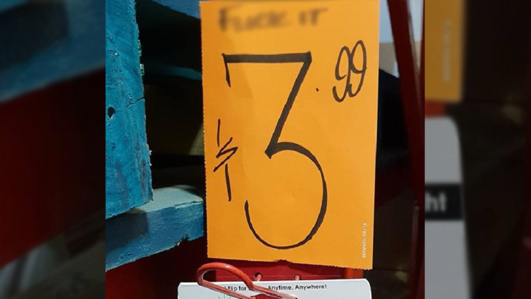 Article heading image for 'F*** It': Bunnings Warehouse Store Has A Bit Of A Cock-Up With Handwritten Sign