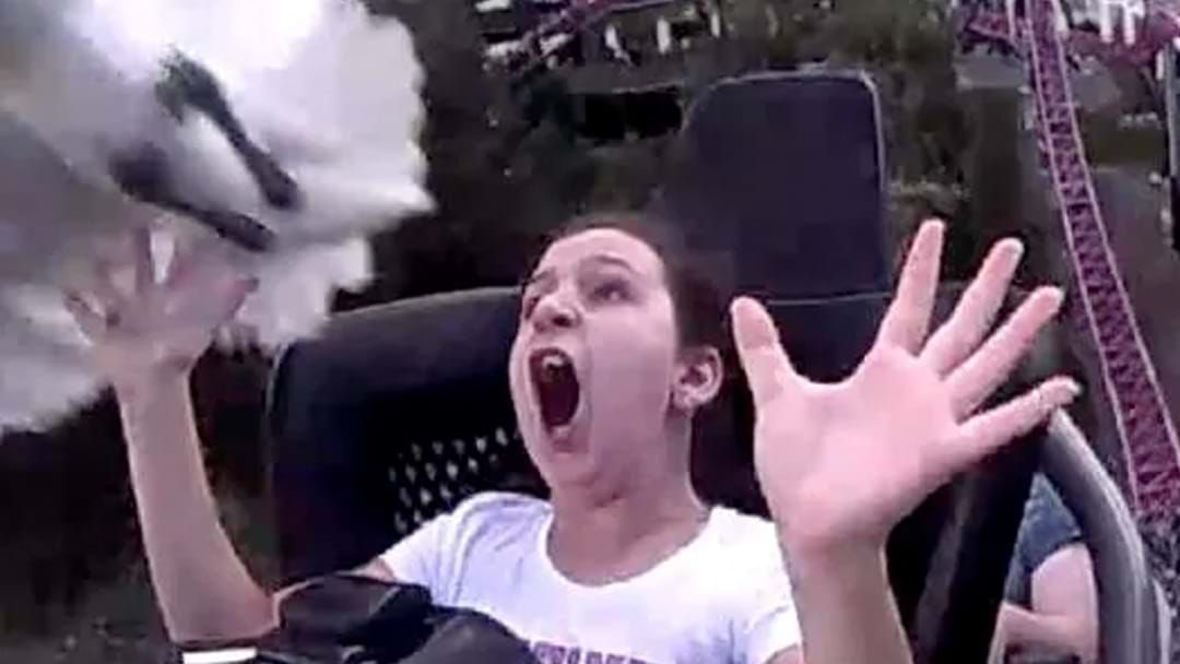 Article heading image for Girl Gets Smacked In The Face By A Bin Chicken On A Rollercoaster At Movie World