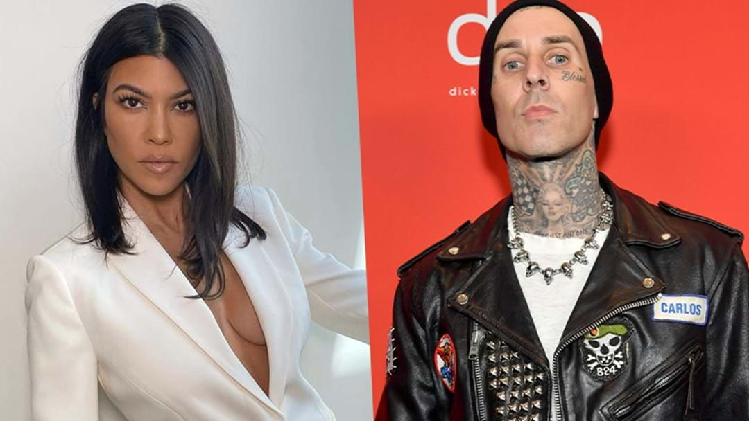 Article heading image for Jokes On Us, Turns Out Kourtney Kardashian Is Now 'Officially' Dating Travis Barker
