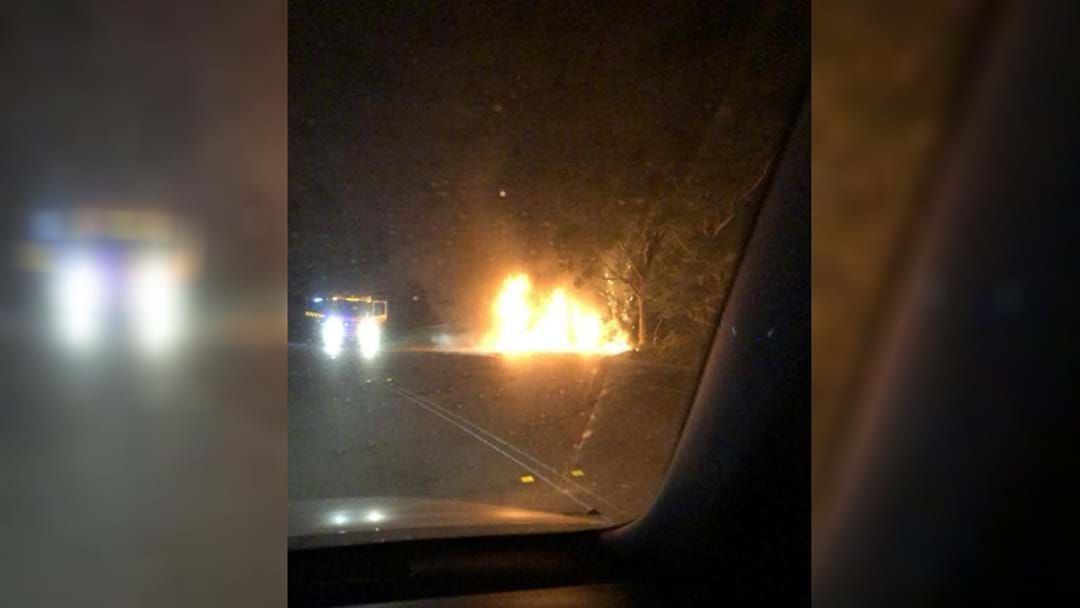 Article heading image for Stolen RAV 4 In Fiery Dudley Crash, Teens Charged