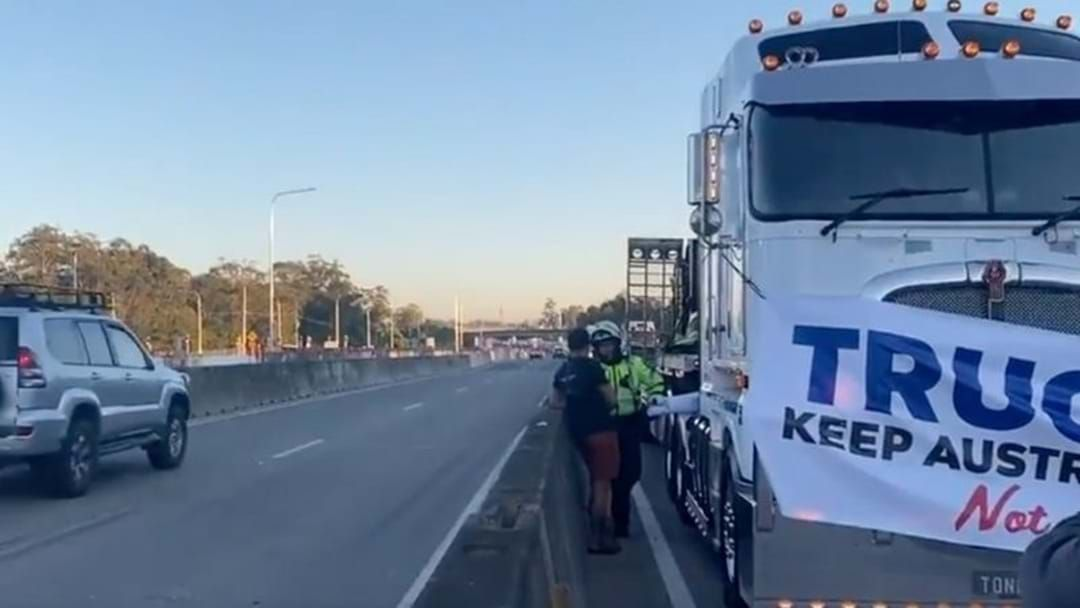 Article heading image for Two Truckies Slapped With Fines Following M1 Covid Protest