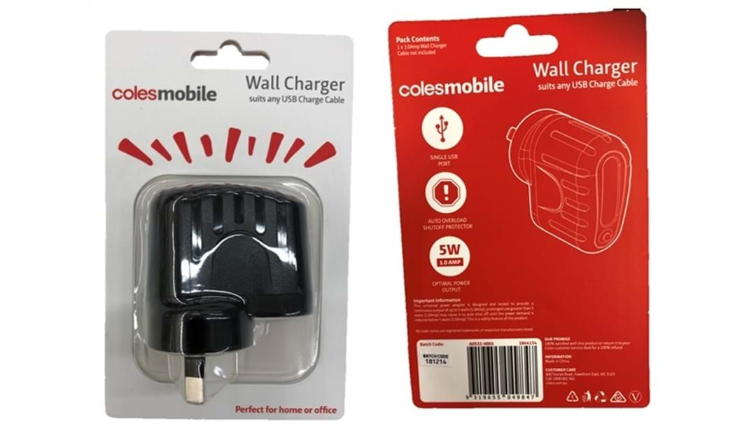 Article heading image for Coles Mobile USB Wall Charger Recall