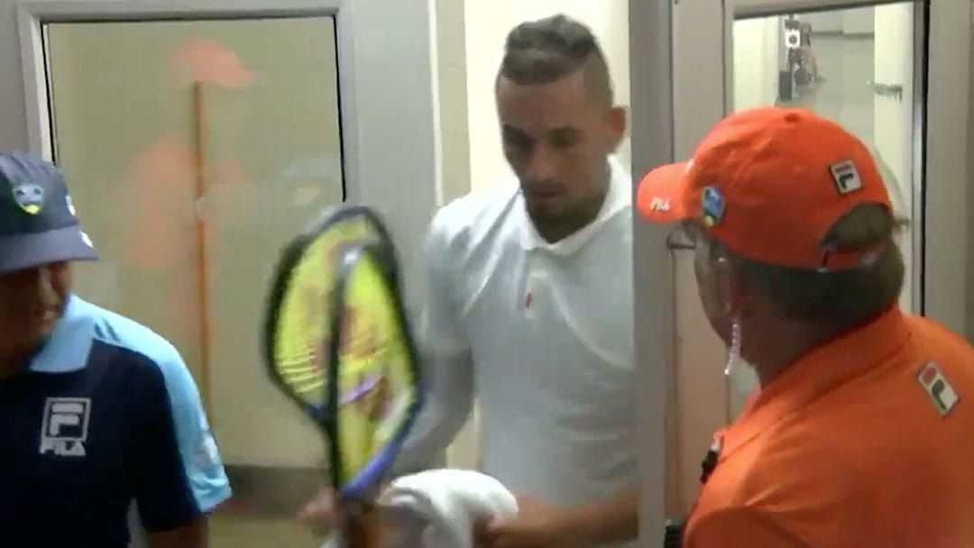 Article heading image for Nick Kyrgios Goes Full Nick Kyrgios, Destroys Racquets, Appears To Spits Toward A Chair Umpire