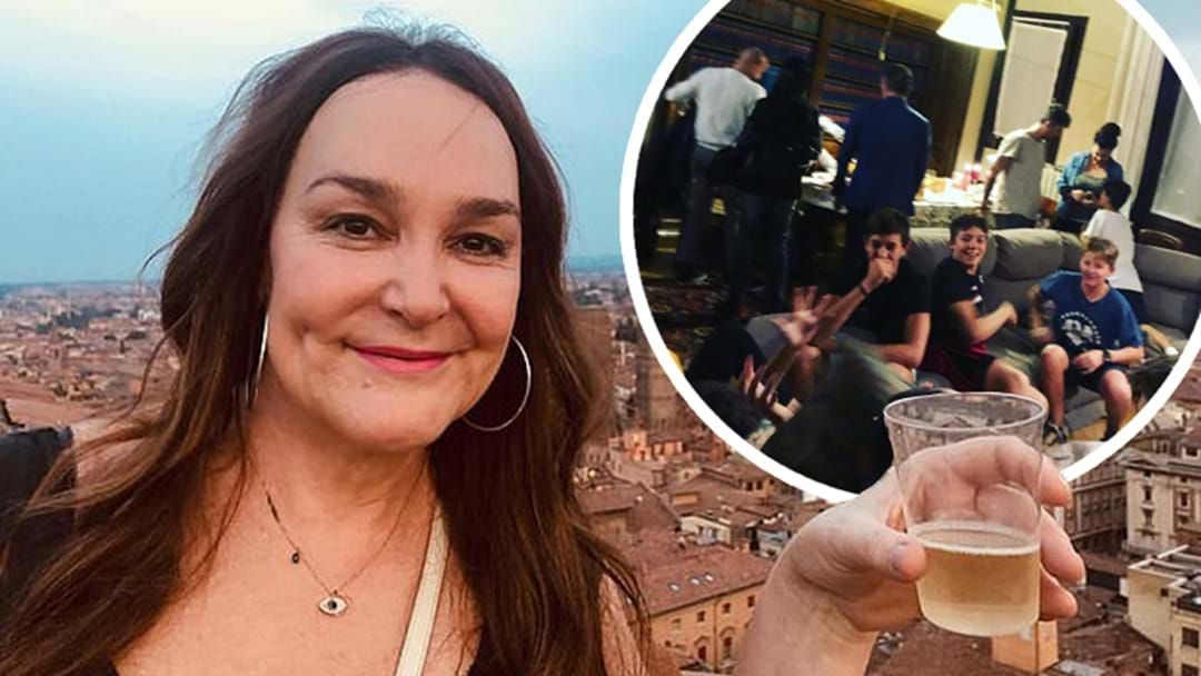 Article heading image for COVID? What COVID? Kate Langbroek Throws Massive Party At Her Home In Italy!