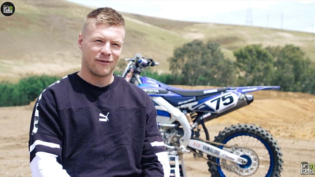 Article heading image for LISTEN | Jordan De Goey Explains To Eddie McGuire Why He's Competing In A Dirt Bike Race