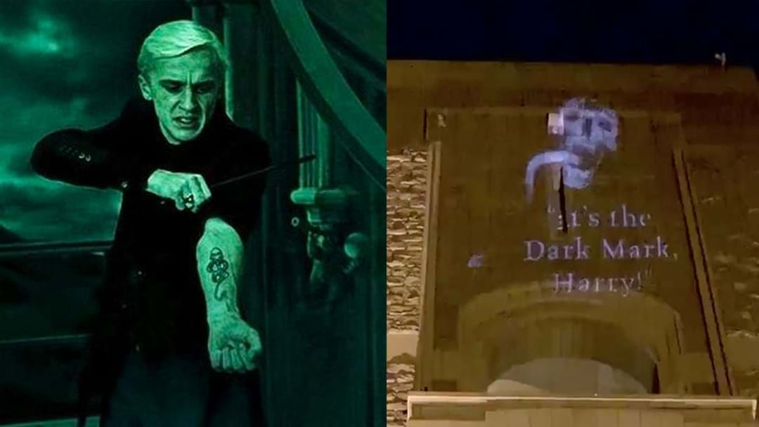 Article heading image for Voldemort's Dark Mark Appeared In Locations Around Sydney This Week