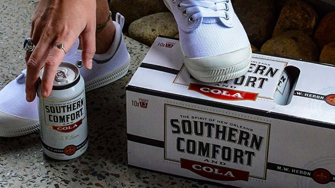 Article heading image for Bloody Hell... They're Giving Away A Free Pair Of Volleys When You Buy A 10 Pack Of Southern Comfort
