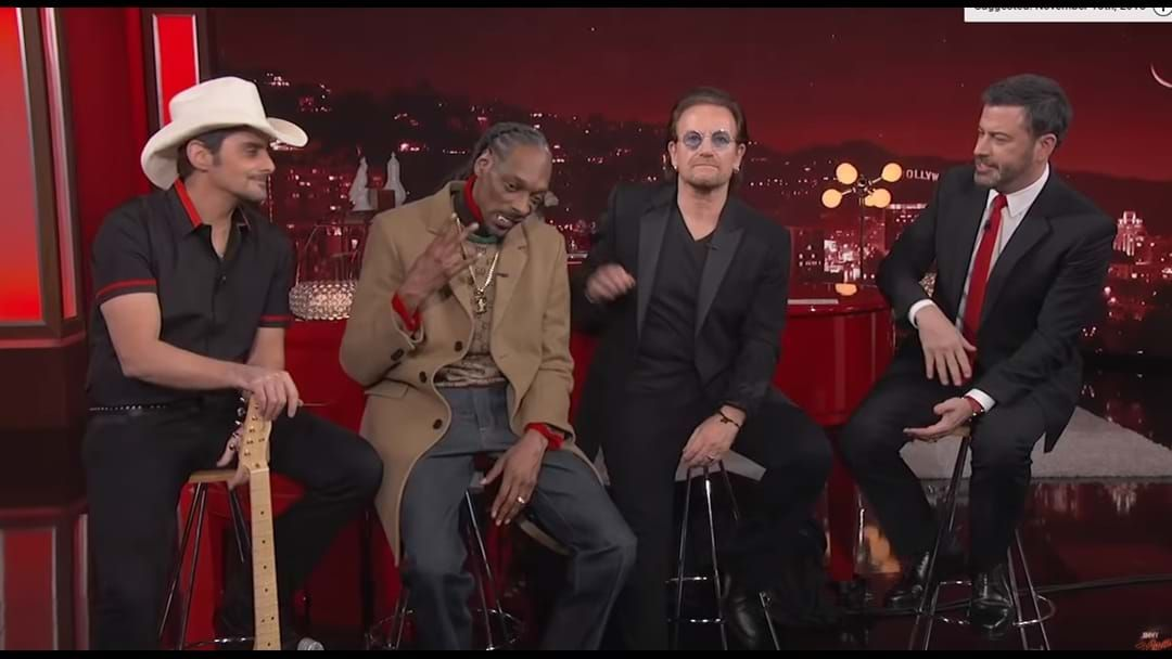 Article heading image for Bono And Snoop Dogg Stop By Jimmy Kimmel's Annual World AIDS Day Concert