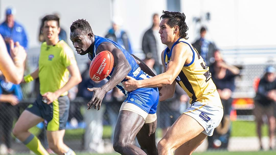 Article heading image for LISTEN | North Melbourne VFL Coach Talks About Majak Daw's Return Game