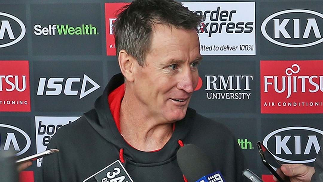 Article heading image for LISTEN   Channel 9's Ayrton Woolley Explains His Press Conference Run-In With John Worsfold