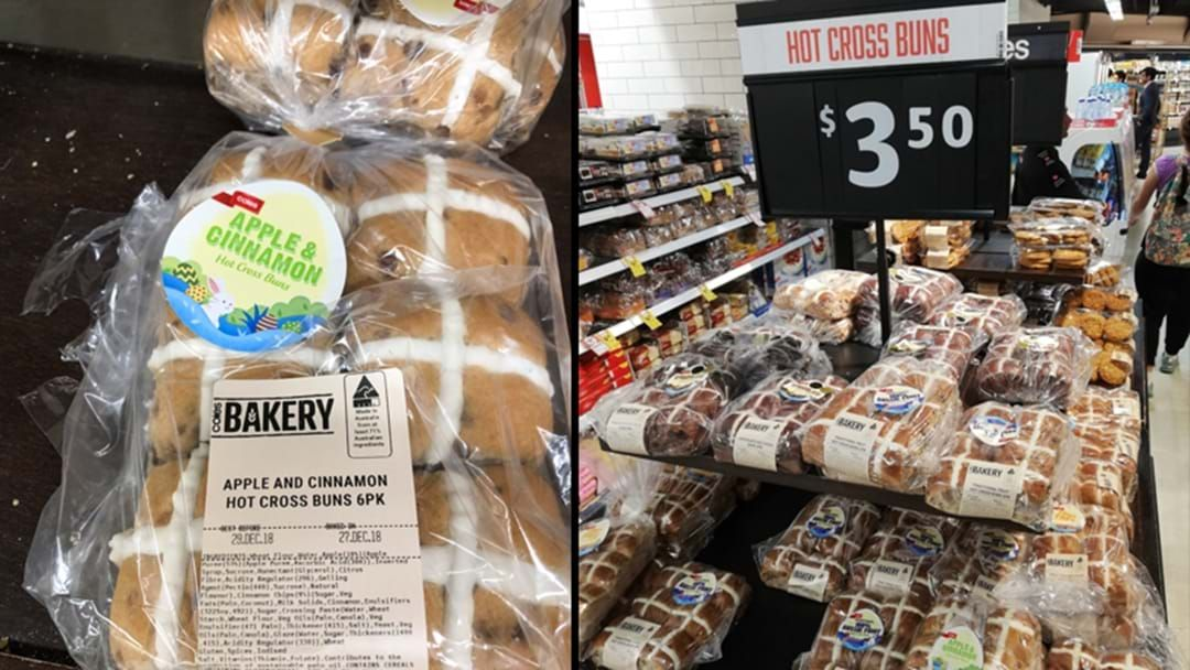 Article heading image for Hot Cross Buns Are Already On Supermarket Shelves & Australia Has Lost Their Chill