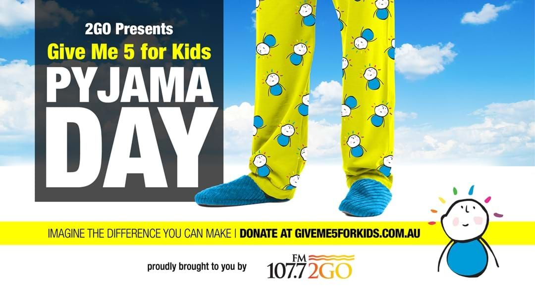 Article heading image for Give Me 5 For Kids PJ Day!