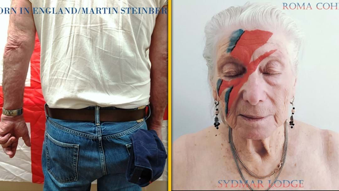 Article heading image for Residents Of An Aged Care Home Have Been Recreating Classic Album Covers In Lockdown