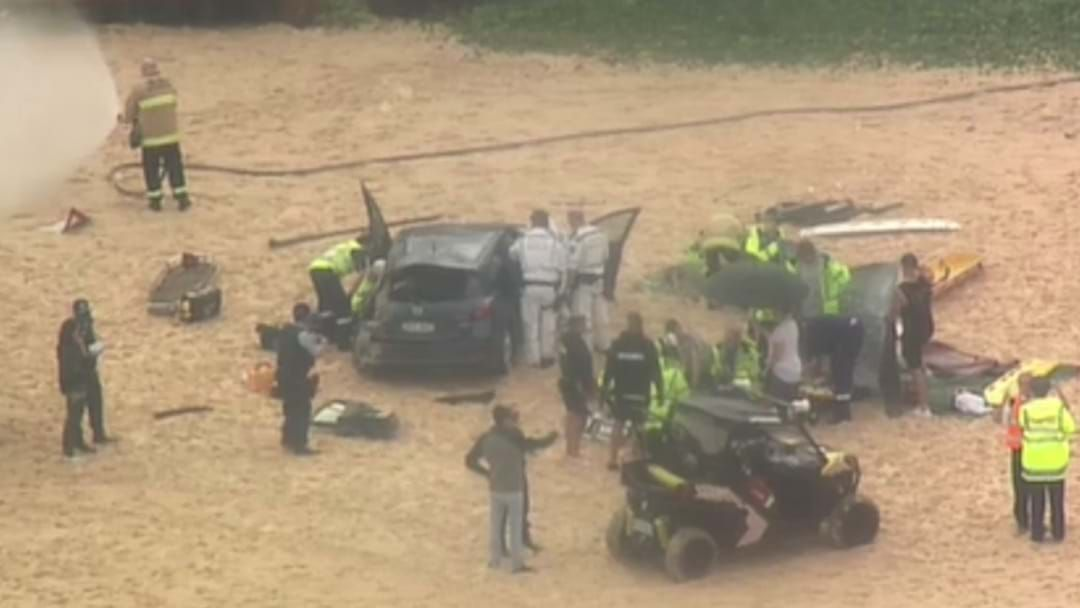 Article heading image for Car Drops 10m Onto Maroubra Beach After Crashing Through Barrier
