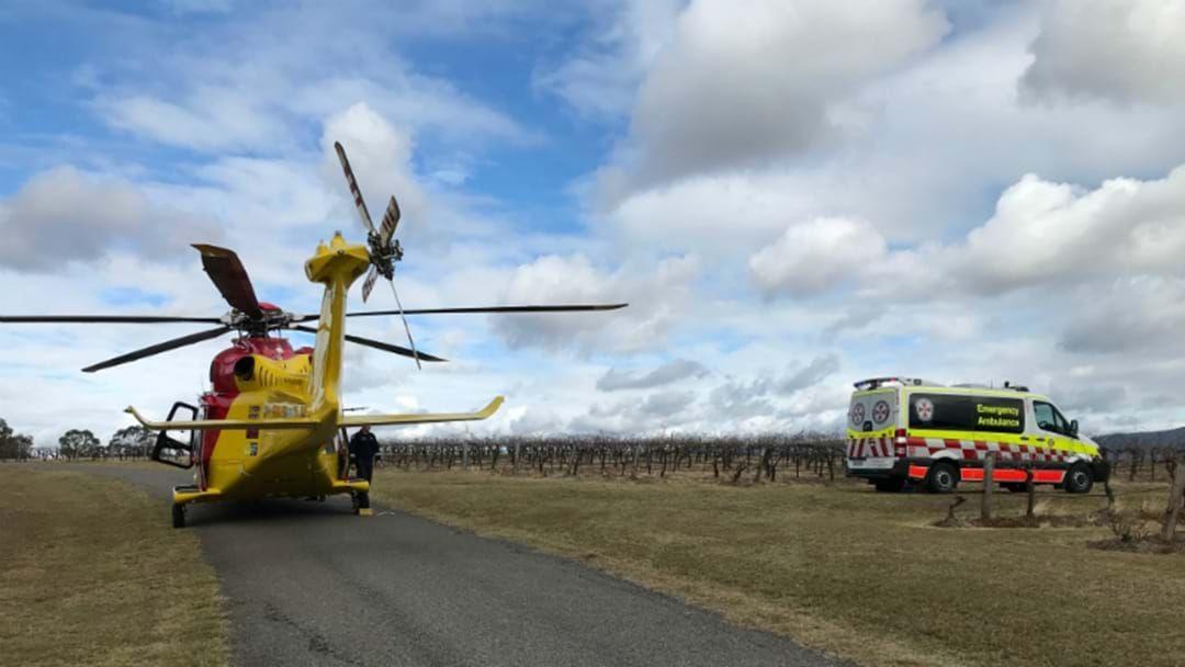 Article heading image for Man Badly Injured After Vineyards Crash