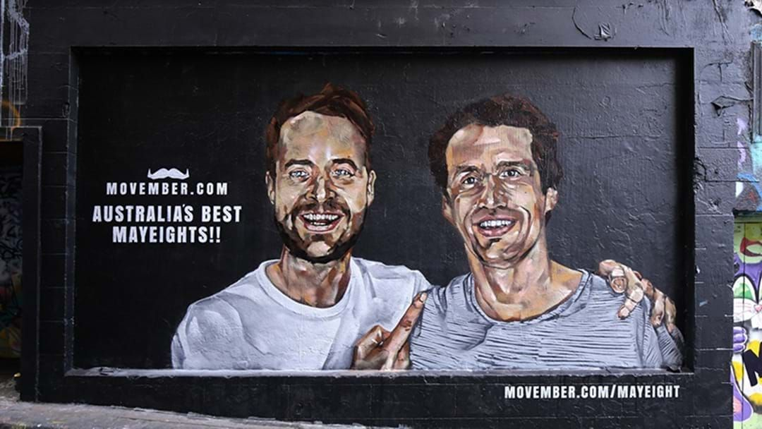 Article heading image for Hamish And Andy Want You To Talk To Your Mates In Movember Mural